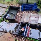Pumpenschacht unter Wasser