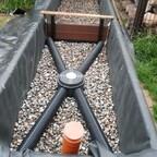 Biodrain im Filtergraben verlegt