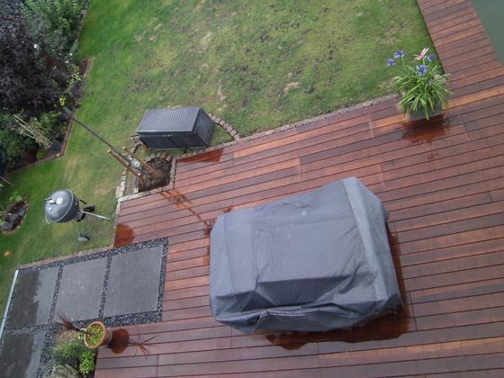 Schwimmteich und Terrasse endlich fertig.