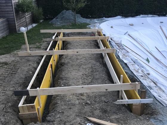 Fundament für Holzdeck