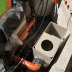 Technikschacht fertig montiert. Wasser kann versickern
