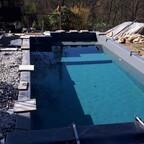 nach 40 m³ Wasser erkennt man die schöne Färbung....