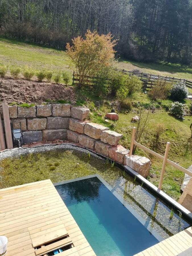 terrasse fertig der treffpunkt f r schwimmteich und naturpool freunde. Black Bedroom Furniture Sets. Home Design Ideas