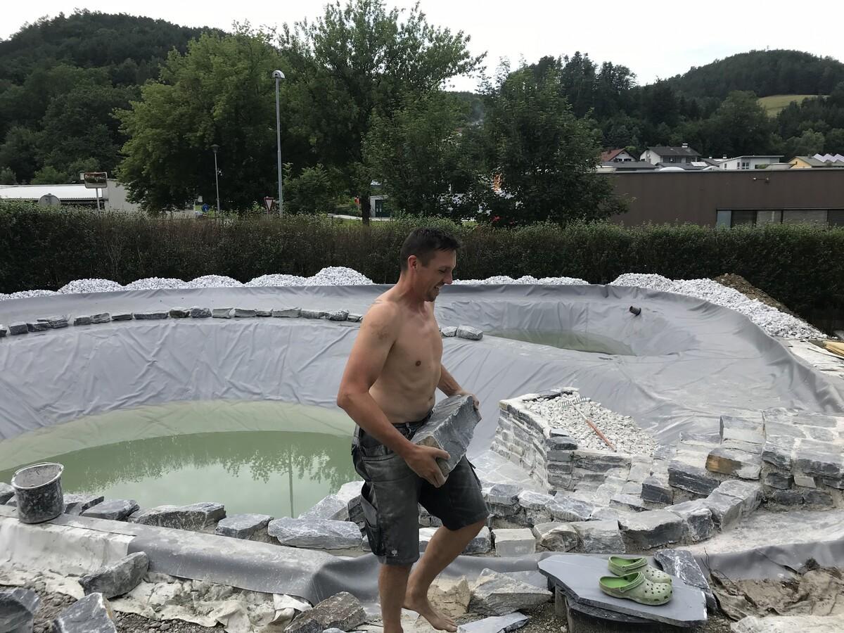Strefflingsarbeit bei 33 Grad!! 10 to Steine wurden verarbeitet!