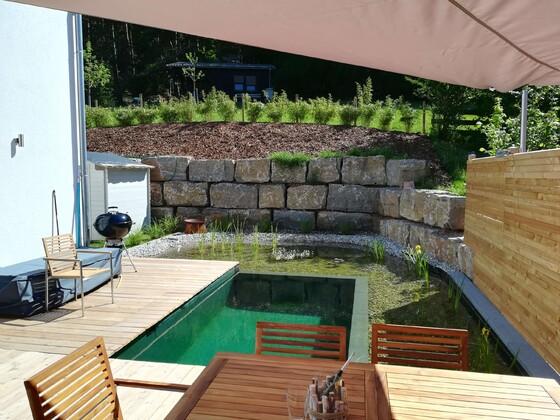 Bilder seite 4 der treffpunkt f r schwimmteich und for Pool graue folie