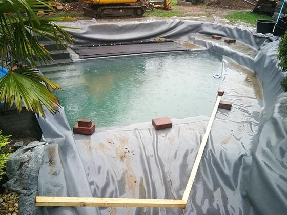 Erster Regentag - Ist der Schwimmbereich groß genug?