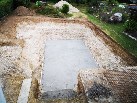 Bodenplatte fertig