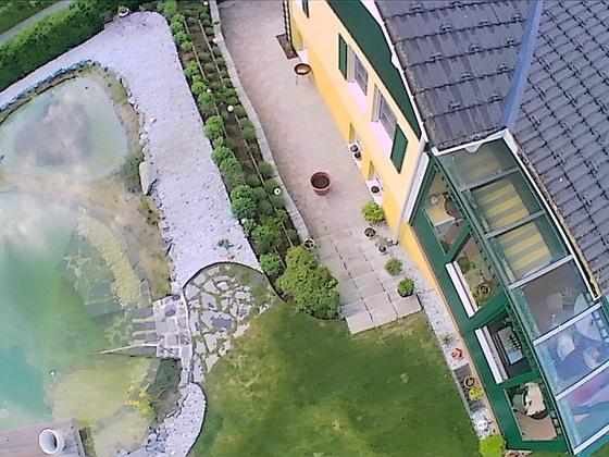 Foto Herbst nach Fertigstellung Aussenanlage mit Drohne