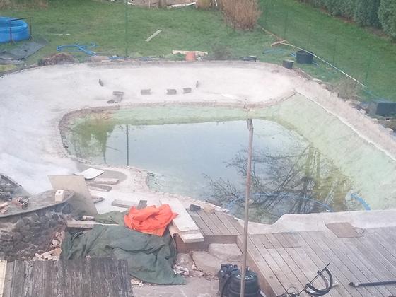 Schwimmteichumbau 2020